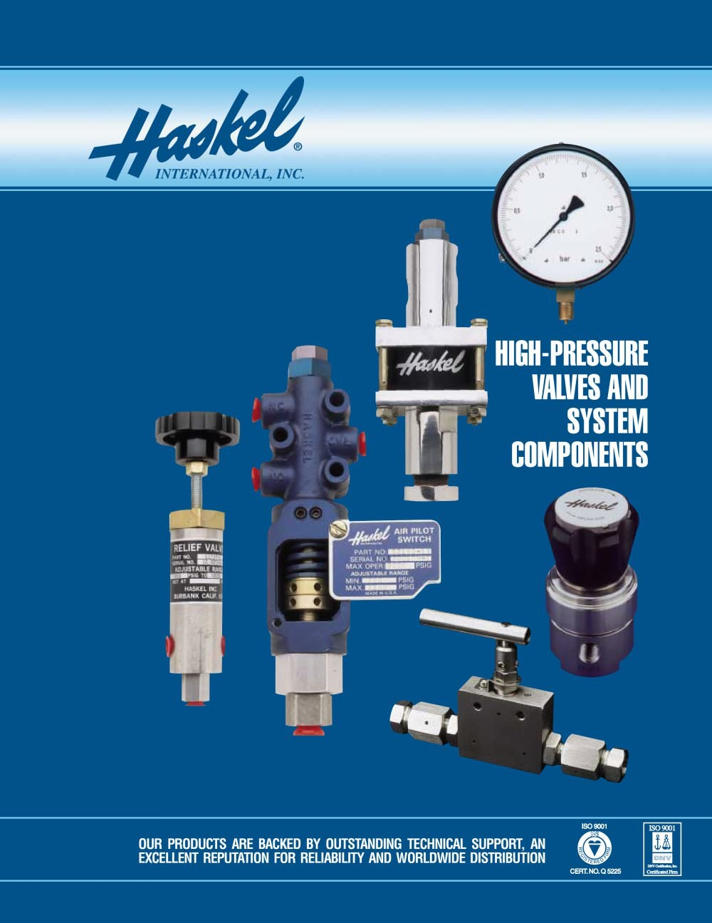 Pump Haskell - pressure pump, strong Haskell - test pump