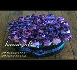 Box flowers wooden