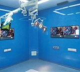 Wall glass joint modular operating room