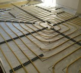Design of floor heating with the software looped code and AutoCAD
