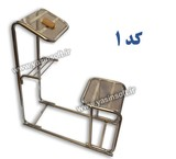 Chair prayer ergonomic Harami stainless steel fixed(model Crystal)